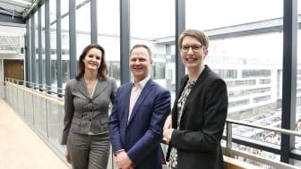 Kuvassa vasemmalta Mia von Schantz, Marcus von Schantz ja Ulla Nikkanen.