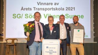Glada representanter från SG Södra Viken. Från vänster: Kennet Berg Gunnar Berggren Johan Brandenfeldt Pontus Jonsson. Foto: Liza Simonsson.
