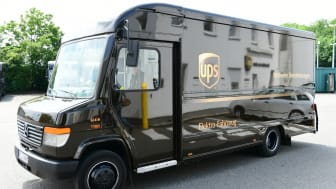 UPS E-Fahrzeug mit BPW Antrieb in Fahrt