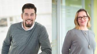 Christoffer Carlsmose och Erika Rapp