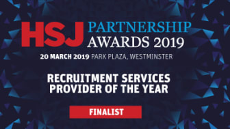 Finegreen shortlisted as a finalist for Recruitment Services Provider of the Year at the HSJ Partnership Awards 2019