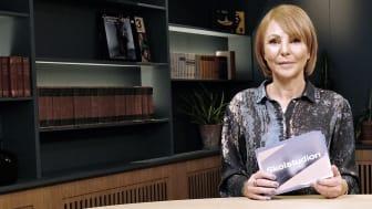 Läraren Jenny Reichwald programleder UR:s nya serie Skolstudion. Foto: Carolin Platzek/UR