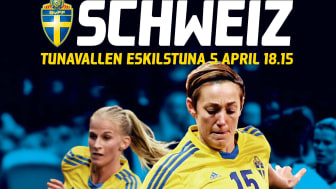 Sverige-Schweiz på Tunavallen i Eskilstuna