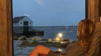 utsikt fra Olsens Pensjonat Smøla