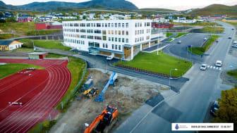 Baksalen skole er månedens prosjekt i november. Foto: Hammerfest Entreprenør.