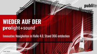 publitec Präsentationssysteme & Eventservice GmbH wieder auf der Prolight + Sound