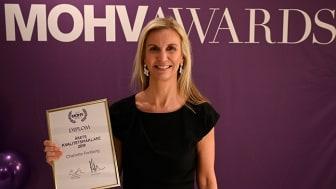 Charlotte Forsberg på MOHV i Umeå är Årets Kvalitetsmäklare 2019