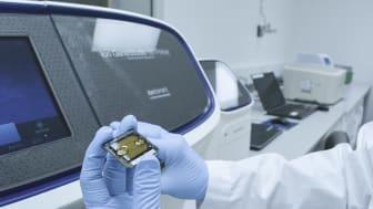 Avancerat mikrochip lagrar byggstenar i arvsmassan.