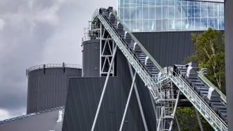 Transportbånd på Helsingør Forsynings kraftvarmeværk