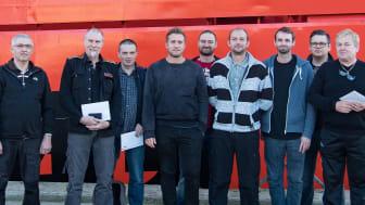Besætningen på 'Esvagt Connector', der reddede fiskeskipperen fra Grietje Geertruida