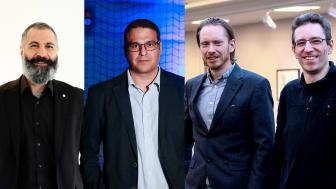 Från vänster: Ramin Karim, George Nikolakopoulos, Jan Frostevarg och Jörg Volpp.