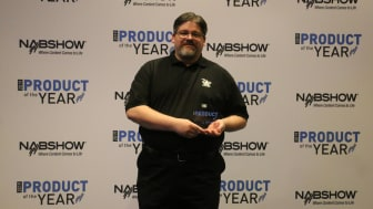 Tim Conway of Adder Accepts NAB 2019 Product of the Year 2019
