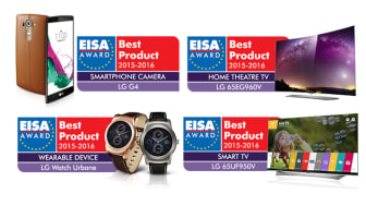 FIRE PRISER TIL LG ELECTRONICS VED EISA AWARDS 2015-2016