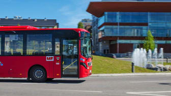 Luleå har i år lyckats ta sig upp till de tio bästa kommunerna i Sverige. En anledning är att kommunen fått bonuspoäng för sitt framgångsrika arbete med kollektivtrafiken. Foto: Luleå lokaltrafik