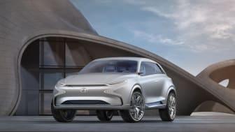 Hyundais nye hydrogenelektriske bil vises på bilmessen i Geneve denne uken