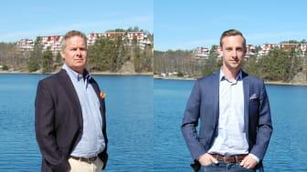 På bilden: Stefan Haglund, KAM för Retail och Håkan Ferm, Försäljningschef Sverige, Villeroy & Boch Gustavsberg