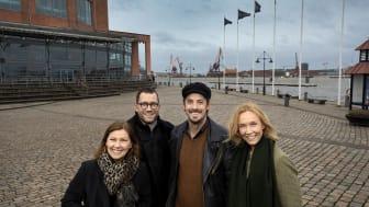 Christina Björklund, vd GöteborgsOperan, Henning Ruhe, konstnärlig chef Opera/drama, Simon Ljungman och Victoria Brattström.