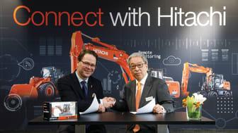 Administrerende direktør i ABAX, Morten Strand og Makoyo Yamazawa  HCME President, Chairman of the Management Board