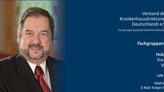 Holger Höhmann, Vorsitzender der VKD-Fachgruppe psychiatrische Einrichtungen