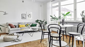 Skandinaviskt vardagsrum