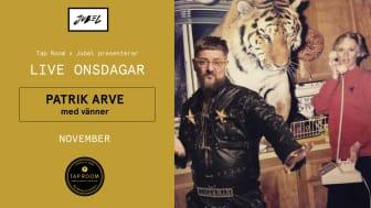 Patrik Arve live på Tap Room Kungsholmen varje onsdag hela november!