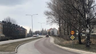Här byggs snart en ny gång- och cykelväg.   Foto: Hanna Wimander