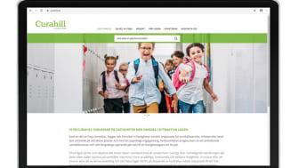 Curahill lanserar ny och förbättrad hemsida