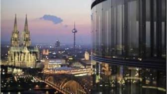 Die Veranstaltung findet im KölnSky im 28. Stock hoch über den Dächern der Domstadt statt. Foto: KölnSky / Stern