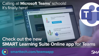 Ny integration mellan Microsoft Teams™ och SMART Learning Suite
