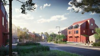 Bild från ett av bolagets pågående småhusprojekt i Ursvik, Sundbyberg