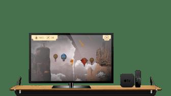 Lisebergs nya app, AeroSpin, får en specialversion för Apple TV.