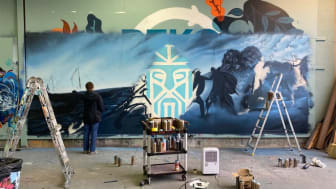 Grafittikunsten på Midgard tar form