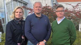 Cecilia Wennersten, näringslivsstrateg Eslövs kommun, Sune Lundberg, rådgivare Nyföretagarcentrum, och Lars Persson, näringslivschef Eslövs kommun..