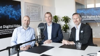The Digital Edge episode 4 med Lars Jacobsen, Computerworld (tv); Jesper Riis, CIO hos DSV (midt) og Jesper Schleimann, SAP (th).