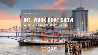 Visit Dieseloutboard LLC at the International Work Boat Show by to experience OXE Diesel