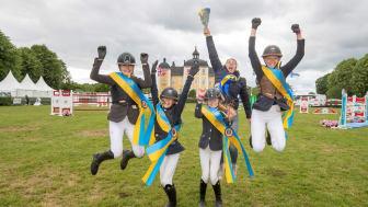 Örebro Ryttarteam vann Folksam Ponnyallsvenska 2019 på Strömsholm. Foto: Roland Thunholm