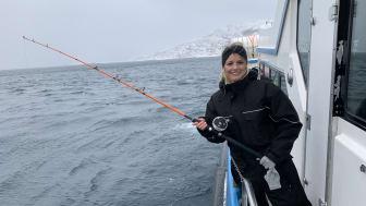 Trine Horne på skreifiske