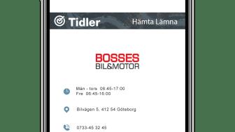 Bosses Bil hämtar bilen i Luleå för service.