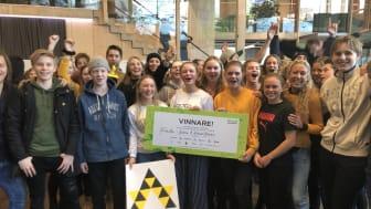 Årets vinnare i tävlingen Framtida Transporter 2019 blev klass åtta från Friskolan i Kärna.