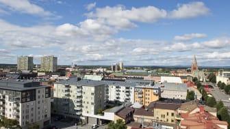 Vy över centrala Örebro.