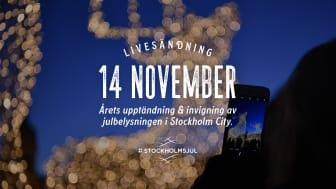 Stockholm i ljusskrud för trygga och säkra promenader