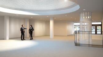 Lokalen för Akademibokhandelns nya butik, Stora Torget, Uppsala