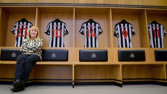 Dr Sandy Wolfson of Northumbria University pictured in Newcastle United's first team dressing room