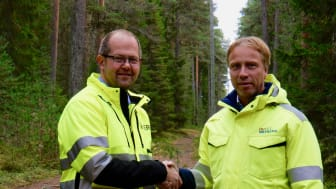 Från vänster: Magnus Karlsson, Exeri med Jörgen Andersson Strand, PiteEnergi