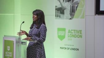 Deputy Mayor Debbie Weekes-Bernard addresses the Active London conference
