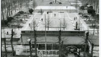 Kungsträdgården, 1980-tal, Stockholm. Arkivbildare: Gatukontoret. 1920-1992. Trafikkontorets arkiv. Stockholms stad.