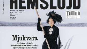 Tidningen Hemslöjd, nr 1-2021, Mjukvara. Fotograf: Carl-Johan Utsi.