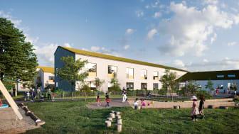 Äldreboende och förskola i Mönsterås kommun