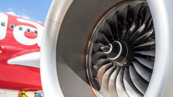 Vätgas har pekats ut som ett av framtidens drivmedel för flyget. Högskolan Väst deltar i GKN Aerospace projekt som ska utveckla nyckelkomponenter till vätgasdrivna flygmotorer. Foto: GKN Aerospace