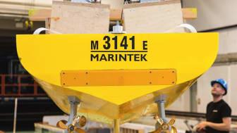 Skroget på det nye skifteskib har gennemgået omkring 100 beregninger. Den samme detaljeringsgrad har præget valget af fremdriftssystem og propeller.